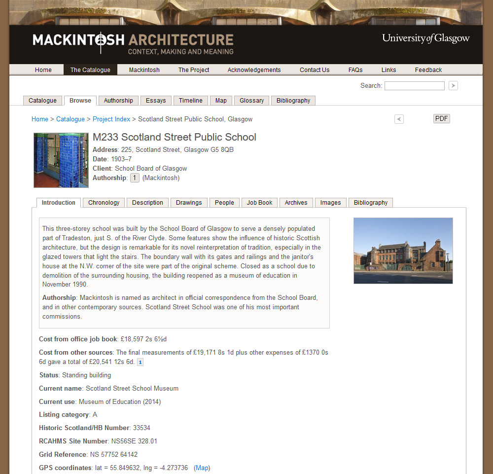 Catalogue entry for Scotland Street Public School