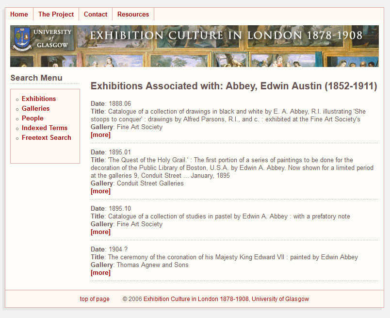 Exhibitions associated with the artist Edwin Austin (1852-1911)
