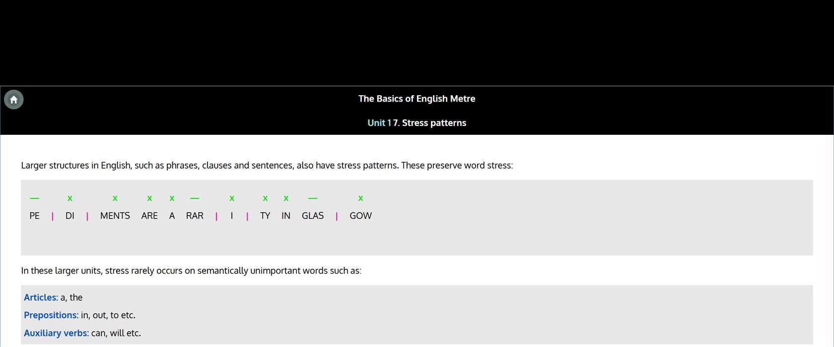Basics of English Metre